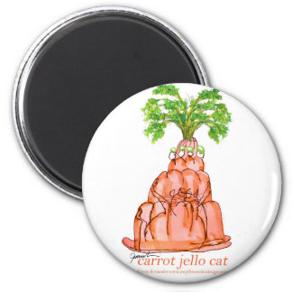 tony fernandes's carrot jello cat magnet