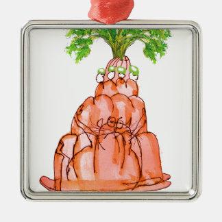 tony fernandes's carrot jello cat metal ornament
