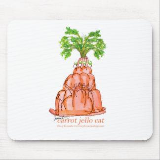 tony fernandes's carrot jello cat mouse pad
