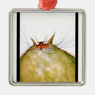 tony fernandes's ginger tom cat snap metal ornament