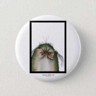 tony fernandes's grumpy tabby cat snap pinback button