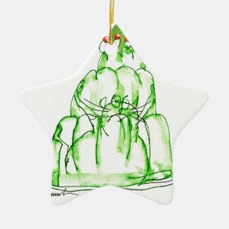 tony fernandes's lime jelly cat ceramic ornament