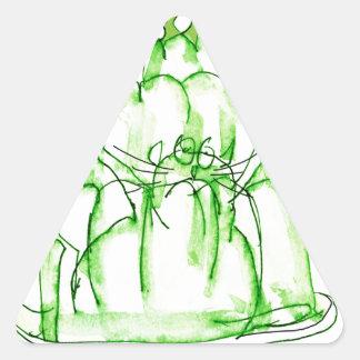 tony fernandes's lime jelly cat triangle sticker