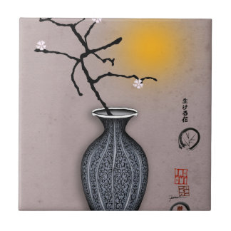 tony fernandes's moon and 4 plum blossom tile