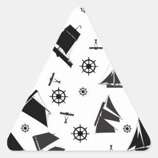 tony fernandes's nautical 2 triangle sticker