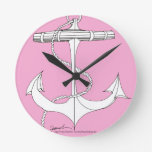 tony fernandes's new anchor pink round clock