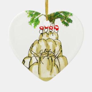 tony fernandes's parsnip jello cat ceramic ornament