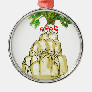 tony fernandes's parsnip jello cat metal ornament
