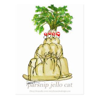 tony fernandes's parsnip jello cat postcard
