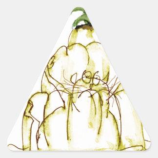 tony fernandes's pineapple jello cat triangle sticker