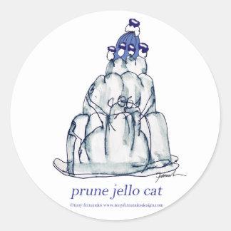 tony fernandes's prune jello cat classic round sticker