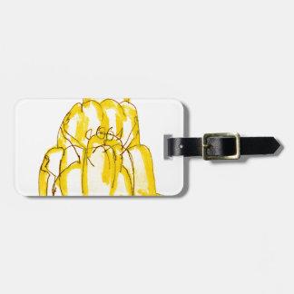 tony fernandes's quince jello cat bag tag