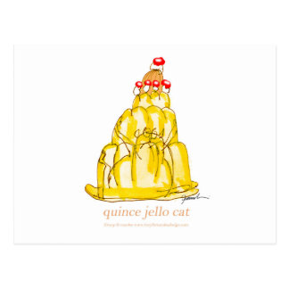 tony fernandes's quince jello cat postcard