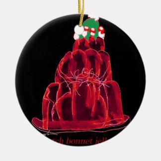 tony fernandes's scotch bonnet jello cat ceramic ornament