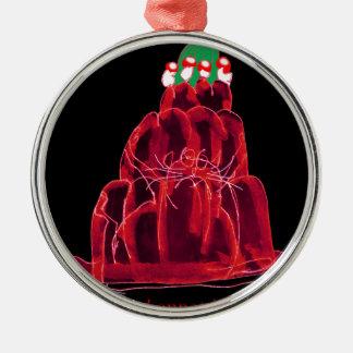 tony fernandes's scotch bonnet jello cat metal ornament