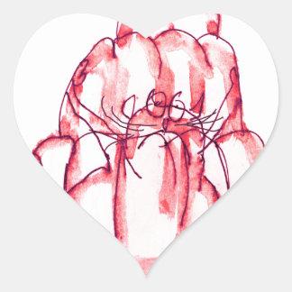tony fernandes's strawberry jelly cat heart sticker