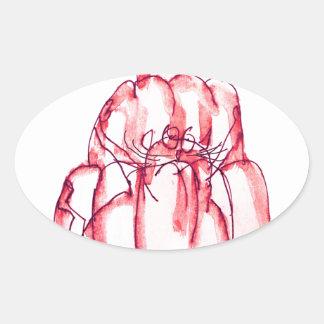 tony fernandes's strawberry jelly cat oval sticker