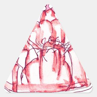 tony fernandes's strawberry jelly cat triangle sticker