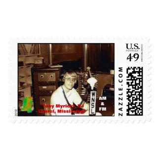 Tony Myrick Disc Jockey WNSL AM & FM Laurel MS Stamps