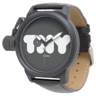 TONY NAME / Mens Black Watch Relojes
