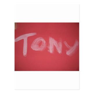 Tony Postcard