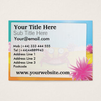 Tony the Crab Business Card