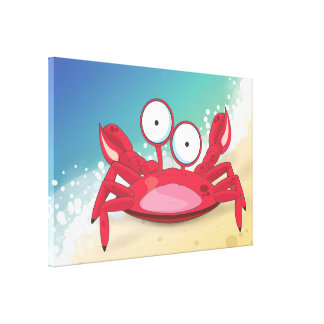 Tony the Crab Stretched Canvas Prints