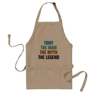 Tony the man, the myth, the legend adult apron