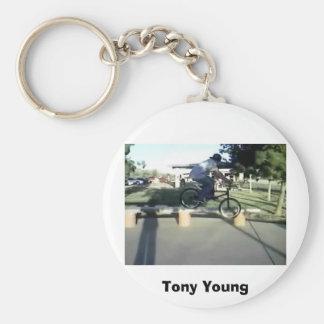 Tony, Tony Young Basic Round Button Keychain