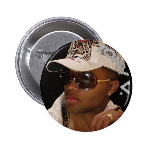 Tony-v-botón-Vidrios Pin Redondo 5 Cm