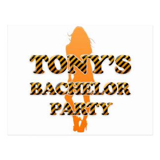 Tony's Bachelor Party Postcard