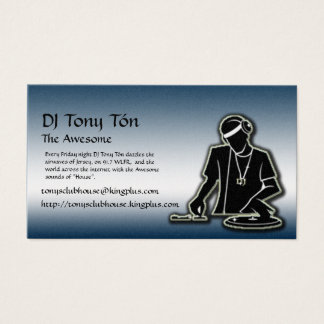 Tony's Clubhouse Business Card