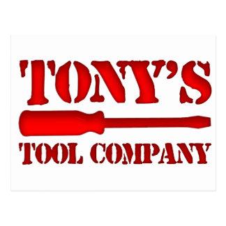 Tony's Tool Company Postcard