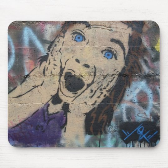 Tonza's Creaming Girl Stencil Mouse Pad