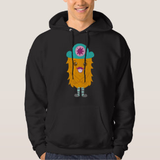 Too adorable orange monster with a hat hoodies