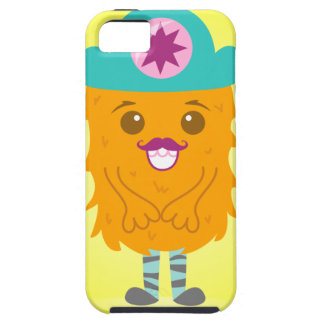Too adorable orange monster with a hat iPhone SE/5/5s case