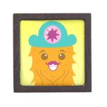 Too adorable orange monster with a hat premium keepsake box