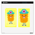 Too adorable orange monster with a hat kindle fire decal
