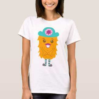 Too adorable orange monster with a hat T-Shirt