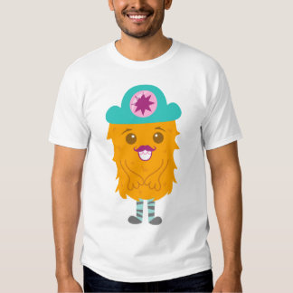 Too adorable orange monster with a hat t-shirts
