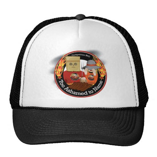 Too Ashamed to Name BBQ Ball cap Trucker Hat