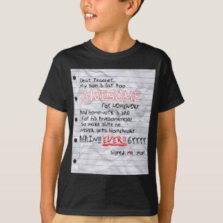 Too Awesome For Homework Shirt (Dark)