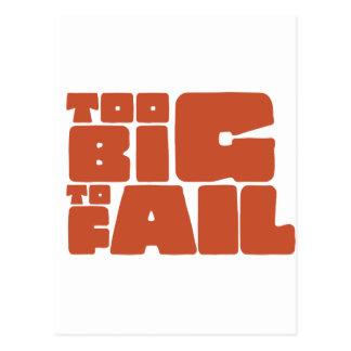 Too Big To Fail Postcard