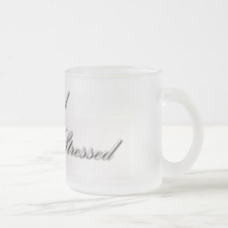 Too Blessed to be Stressed Frosted Mug