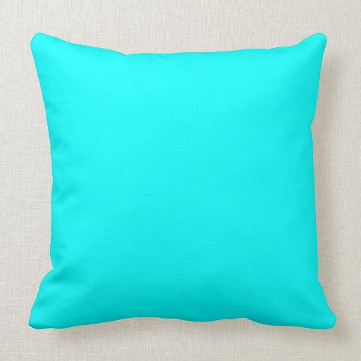 Bright Blue Decorative Pillow : Too Bright Blue Pillows Zazzle