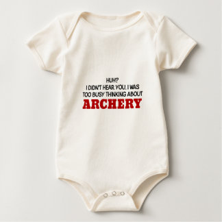 Too Busy Thinking About Archery Baby Bodysuit