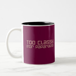 Too Classy For Paparazzi Two-Tone Coffee Mug