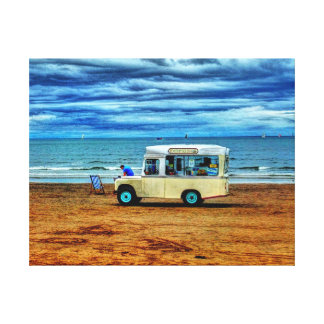 Too Cold For Ice Cream!? Canvas Prints