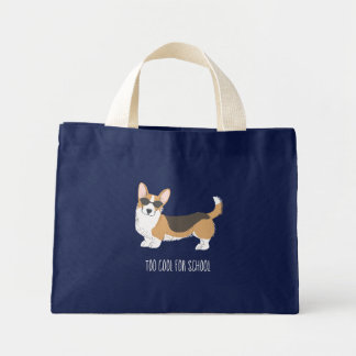 Too Cool Corgi Mini Tote Bag