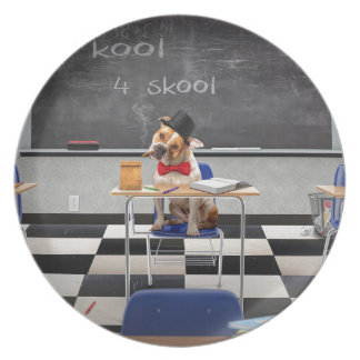 Too cool for school dinner plate